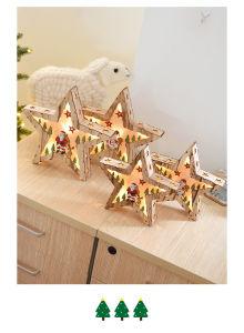 Decoração de Natal de estilo nórdico, artesanato em madeira