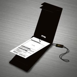 주문 남자의 상한 상표 주문품 폴딩 검정 카드 도금술 꼬리표