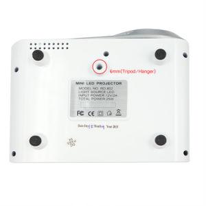 Rd802 휴대용 소형 영사기 가정 극장 LED LCD Beamer USB/VGA/HDMI 아이 만화 영상 영화관 영사기 Rd 802