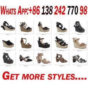 Cuña de la mujer Zapato Abierto dama moda sandalias zapatos de plataforma de vendaje