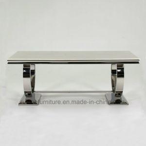 8명의 사람들 Seater를 위한 스테인리스 Ari 현대 회색 대리석 최고 식탁