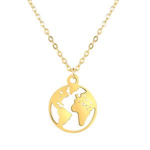 La moda Unisex el encanto de plata 925 chapada en oro joyería personalizada Joyería Colgante Collar con cadena