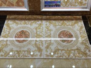 De decoratieve Verglaasde Tegel van het Porselein met het Patroon van de Bloem