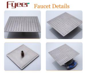 Il bicromato di potassio di Fyeer ha placcato il rubinetto sottile variabile colore della testa di acquazzone 3 LED