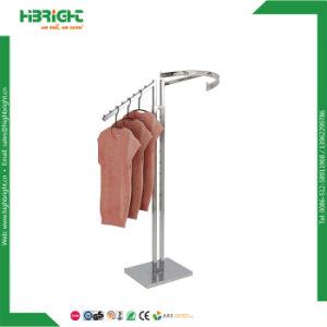 2 Caminho Reto e inclinado pano armas cabide roupas Rack Rack de Exibição de retalho de Metal Boutique Veste roupas Rack de exibição