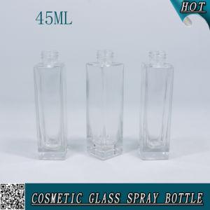 45ml frasco de perfume de vidrio cuadrado para Cosmética