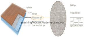 Wearable Binnen Eiken Houten Patroon 6.5mm van het Broodje van de Bevloering van pvc van het Basketbal Vinyl