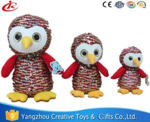 Owl Peluche com lantejoulas para crianças
