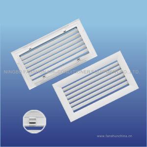 L'aluminium incurvé Simple Déflection Grille de climatisation fixe