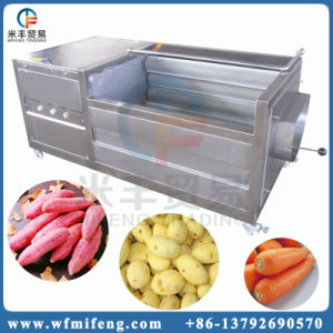 Картофель стиральной машины и рыб и масштаб Очистка машины