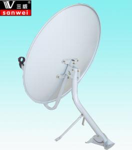 Banda KU 75cm Piscina Sallite antena parabólica de TV