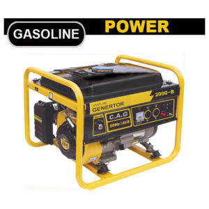 1500watt 단일 위상 5.5HP 공기에 의하여 냉각되는 4 치기 가솔린 또는 휘발유 엔진 발전기