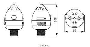 0.75 da válvula de ar de cinética