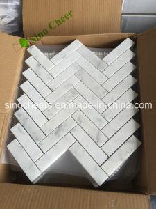 als Aangepast Marmeren Mozaïek van Carrara van het Ontwerp Wit