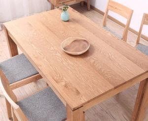 Juego de comedor de madera de roble con estilo sencillo y bajo precio (M-X1095)