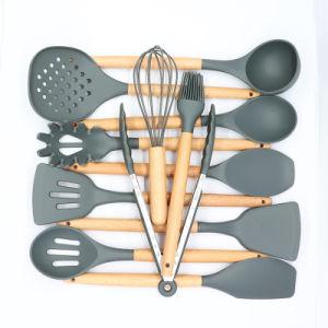 12 деревянными ручками Caliamary силиконового герметика кухни кухонные принадлежности,