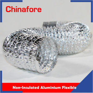 Condotto di aria di alluminio flessibile dell'Non-Isolamento dei sistemi di HVAC