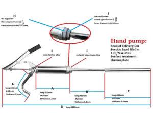 Bomba de pistón Manual bomba / aceite palanca de mano