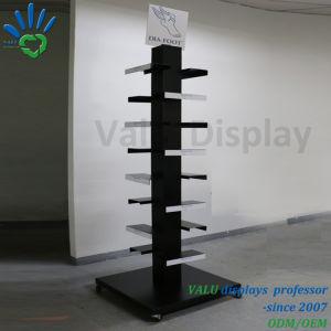 Schuh-Ausstellungsstand-Schuh-Bildschirmanzeige-Zahnstange