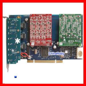 La TDM800P avec 4 ports FXS, FXO+astérisque Carte Carte Carte FXO FXS
