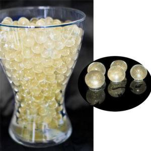 Centro de la boda de llenado de florero decoración cordones de agua del suelo de cristal