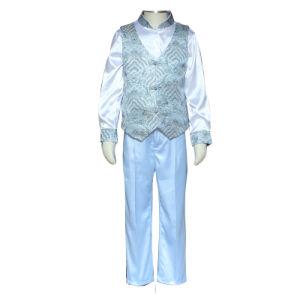As crianças primária formal novidade acetinado patentes colete colete uniformes escolares para crianças