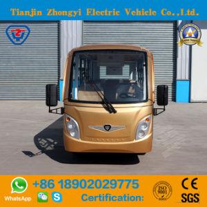 Zhongyi 14 lugares alimentado por bateria de autocarro de turismo com marcação CE
