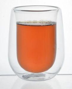 150mlホウケイ酸塩の倍の壁のガラスコーヒー&Teaのコップ2PCSセット