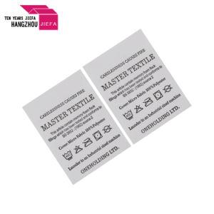 Custom de satén de algodón blanco Non-Woven cuidado lavable etiquetas impresión de etiquetas