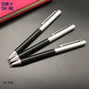 호화스러운 선물 금속 펜 호리호리한 탄소 섬유 펜 판매