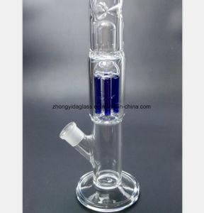 Blaues Baum-Zweig-Filter-Glas-Wasser-Rohr für Rauch-Gewehr