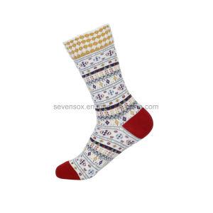 Women's motif jacquard coton Chaussettes de haute qualité