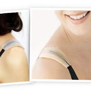 Señora proteger hombros sostén almohadillas de silicona de correa Invisible Hombrera