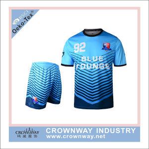 Azul e Branco uniforme futebol Sublmated