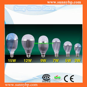 Energiesparendes E27 Base 9W LED Bulb mit CER RoHS