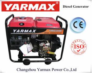 Motor diesel Arrefecidos a ar Yarmax Fase única estrutura aberta conjunto gerador a diesel Grupo Gerador Ym8500e