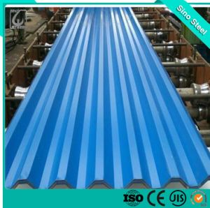 Dx51D Z120 PPGI Pre-Painted Folha de aço corrugado para construção de coberturas