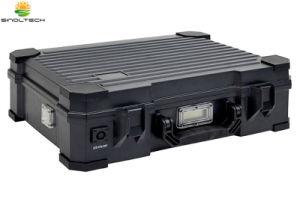 IP65 imprägniern integrierten beweglichen Solargenerator des Entwurfs-50W mit aufgebaut in der Lithium-Batterie (SN-BX-050)
