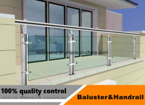 Escalera portátil barandilla de vidrio/Cristal Templado de Vidrio/balcones Baranda balaustrada con la Ronda Post