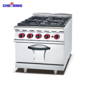 6バーナー及び電気オーブンが付いている元気づける産業ガス範囲