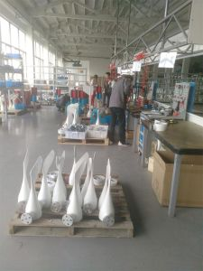 판매를 위한 수평한 700W 24V 영구 자석 바람 터빈 발전기