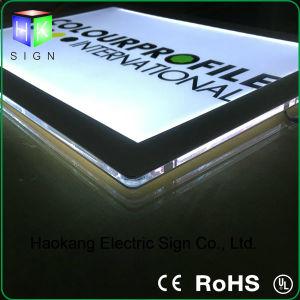 LEDの極めて薄い額縁のアクリル磁気照明灯ボックス