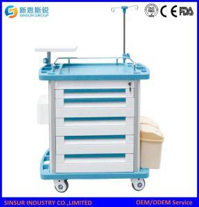 ABS van het Gebruik van de Kliniek van het Ziekenhuis van de Levering van China het Multifunctionele Medische Karretje van de Anesthesie