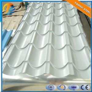 Mattonelle d'acciaio ondulate galvanizzate ricoperte colore/strato di CRC per tetto