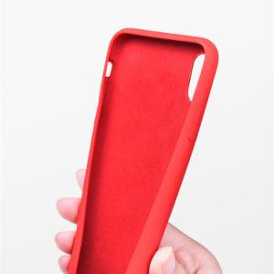 iPhoneのXr Xsの最大ケイ素の箱のための卸し売り液体のシリコーンの電話カバー