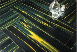 12,3mm de madera de teca comercial espejo resistente al agua, suelo laminado