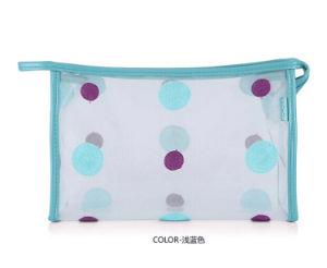 Lady Fashion Points PVC transparent imprimé Cosmetic Toiletry Sac (YKY7533-8)