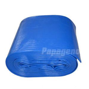 12  het Blauwe Buizenstelsel van de Irrigatie van de Pomp van de Pijp van de Lossing van de Slang van de Levering van het Water van pvc Layflat