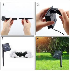 Leistungsfähiges änderndes buntes Landschaft-Weihnachtszeichenkette-Licht-Solarprodukt