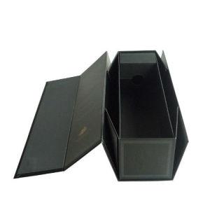 Windows를 가진 포도주 종이 전시 포장 상자
